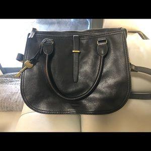 Fossil Black Ryder Satchel handbag